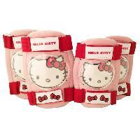 Casque De Velo Protections Coudieres + Genouilleres Hello Kitty