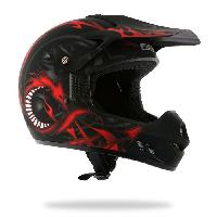 Casque Moto Scooter Casque Cross DRAGON 505 Deco Noir