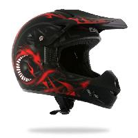 Casque Moto Scooter Casque Cross DRAGON KID Deco Noir - YM50-51cm - YM50-51cm - YM50-51cm