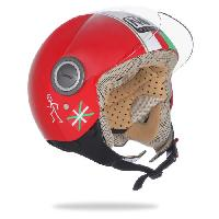 Casque Moto Scooter NOX Casque Jet N210 BO Rouge Blanc Vert - XL61cm - XL61cm - XL61cm - Nox Helmets