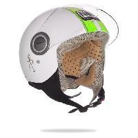Casque Moto Scooter NOX Casque Jet N210 Blanc Vert - L 59-60cm - Nox Helmets
