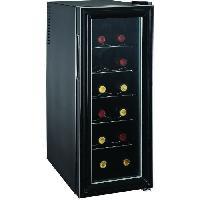 Cave A Vin CAVISS- SP112CFM - Cave de chambrage - 12 bouteilles - Thermostat - Porte verre - Thermostat mécanique - Eclairage