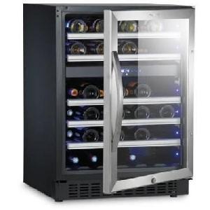 Cave A Vin S46G - Cave a vin de service a 2 zones - 46 bouteilles - Pose libre ou encastrable - Classe A - L 59.5 x H 82 cm