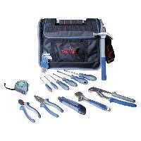 Ceinture Porte-outils - Bandeau Porte-outils - Poche - Etui - Trousse - Besace TEC HIT Sac d'outils 23 pieces avec rabat et poignee rigide