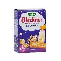 Cereales Bebe BLEDINA Blédîner Céréales du soir Riz carottes - 12x12 g - Des 4/6 mois