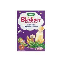 Cereales Bebe BLEDINA Blédîner Céréales du soir Semoule Légumes verts - 240 g - Des 8 mois