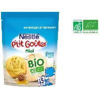 Cereales Bebe NESTLÉ P'tit Goûter Bio Miel - 150 g - Des 15 mois - Nestle