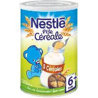 Cereales Bebe NESTLÉ P'tite Céréale 5 Céréales - 400 g - Des 6 mois - Nestle