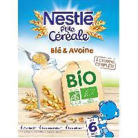 Cereales Bebe NESTLÉ P'tite Céréales Bio Blé & avoine - 240 g - Des 6 mois - Nestle