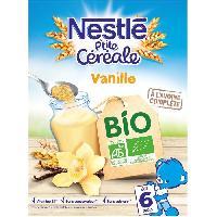 Cereales Bebe NESTLÉ P'tite Céréales Bio Vanille - 240 g - Des 6 mois - Nestle