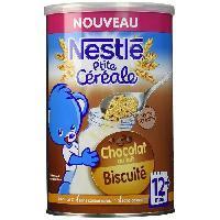 Cereales Bebe NESTLÉ P'tite céréale Chocolat au lait biscuité - 400 g - Des 12 mois - Nestle
