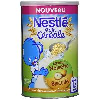 Cereales Bebe P'tite cereale Saveur noisette biscuite - 400g