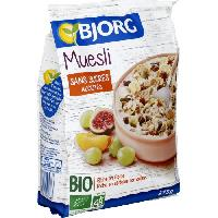 Cereales Petit Dejeuner Bjorg Muesli sans sucre ajouté 375g - Aucune