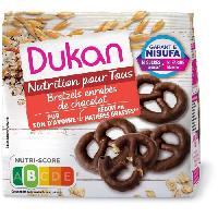 Cereales Petit Dejeuner DUKAN Bretzels au son d'avoine nappés chocolat - 100g