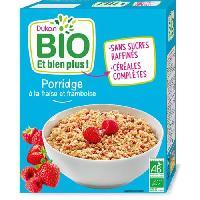 Cereales Petit Dejeuner DUKAN Porridge fraises framboise Bio - 300 g