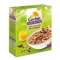 Cereales Petit Dejeuner GERBLE Pétales de riz. avec des copeaux de chocolat - 300 g
