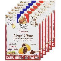 Cereales Petit Dejeuner LUCIEN GEORGELIN Céréales Croc' Choc a la Pâte a Tartiner - Noisettes du Lot-et-Garonne - 375 g