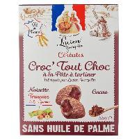 Cereales Petit Dejeuner LUCIEN GEORGELIN Céréales Croc' Tout Choc a la Pâte a Tartiner - Noisettes du Lot-et-Garonne - 375 g