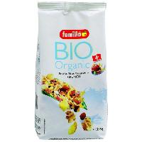 Cereales Petit Dejeuner Muesli croquant Bio Fruits Noix 375G FAMILIA