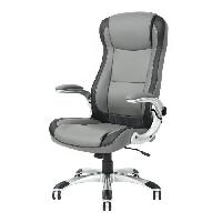 Chaise - Fauteuil De Bureau ANNISTON Fauteuil de bureau - Simili gris clair et fonce - Urbain - L 62 x P 67 cm