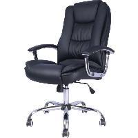 Chaise - Fauteuil De Bureau BOSS Fauteuil de bureau - Simili noir - Contemporain - L 71 x P 65 cm
