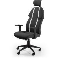 Chaise - Fauteuil De Bureau BUZZ Chaise de bureau - Simili et tissu noir - Style urbain - L 63 x P 67 cm