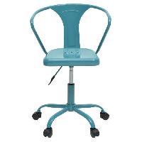 Chaise - Fauteuil De Bureau COMETE Chaise de bureau - Métal bleu brillant- Industriel - L 35.5 x P 37 cm - Generique