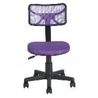 Chaise - Fauteuil De Bureau DIAS Chaise de bureau - Tissu violet - Junior - L 40 x P 38 cm - Aucune
