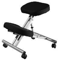 Chaise - Fauteuil De Bureau ERGO Chaise de bureau - Métal - Tissu noir - Contemporain - L 47 x P 57 cm - Generique