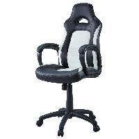 Chaise - Fauteuil De Bureau Fauteuil de Bureau Facon Siege Baquet Sprint noir et blanc