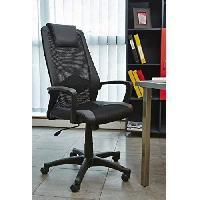 Chaise - Fauteuil De Bureau HUGO Fauteuil de bureau réglable - Simili noir - L 68x p 66 x H 107/116 cm - Aucune