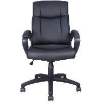 Chaise - Fauteuil De Bureau JULES Fauteuil de bureau - Simili Noir - L 55 x P 50 x H 110-120 cm - Aucune