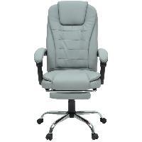 Chaise - Fauteuil De Bureau MACK Chaise de bureau - Simili blanc - Style industriel - L 61 x P 54 cm