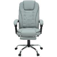 Chaise - Fauteuil De Bureau MACK Chaise de bureau - Simili gris - Style industriel - L 61 x P 54 cm