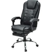 Chaise - Fauteuil De Bureau MACK Chaise de bureau - Simili noir - Style industriel - L 61 x P 54 cm