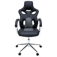 Chaise - Fauteuil De Bureau MASK Fauteuil de bureau - Simili noir et gris - Urbain - L 73 x P 59 cm - Aucune