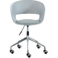 Chaise - Fauteuil De Bureau NOLAN Chaise de bureau - Simili gris - Style contemporain - L 62 x P 62 cm