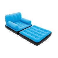 Chaise - Fauteuil De Camping BESTWAY Fauteuil gonflable floque Multi Max - 3 couleurs assorties