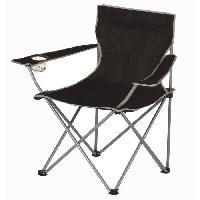 Chaise - Fauteuil De Camping Chaise de camping pliable - 50 x 50 x 80 cm - Noir - Aucune