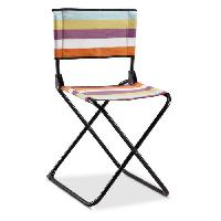 Chaise - Fauteuil De Camping EREDU Chaise Pliante camping Maxi 522/L - Polycoton - Noir et Multicolore