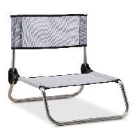Chaise - Fauteuil De Camping EREDU chaise camping-plage 833/Tx - Aluminium et PVC Tissé - Gris