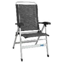 Chaise - Fauteuil De Camping Fauteuil Confort - Aluminium - Noir - Generique
