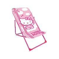 Chaise - Fauteuil De Camping SANRIO HELLO KITTY Chaise de Plage Enfant Fille - Generique