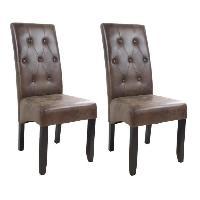 Chaise 2 chaises de salle a manger en tissu vintage