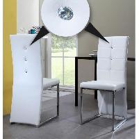 Chaise BLING 2 chaises de salle a manger Strass blanches