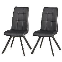 Chaise COCOON Lot de 2 chaises de salle a manger 44 cm - Noir