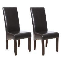 Chaise CUBA 2 chaises de salle a manger marron