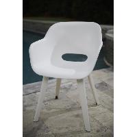 Chaise De Jardin - Fauteuil - Tabouret - Canape ALLIBERT JARDIN Lot de 2 fauteuils Akola - Coque blanc