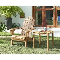 Chaise De Jardin - Fauteuil - Tabouret - Canape Chaise de salon jardin en bois naturel - 87.5 x 73.5 x 95.5 cm - Aucune