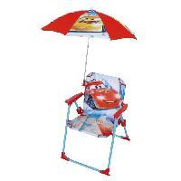 Chaise De Jardin - Fauteuil - Tabouret - Canape Fun House Disney Cars chaise pliable avec parasol pour enfant Jemini